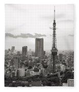 Tokyo Tower And The Zozo-ji Temple Fleece Blanket