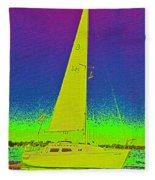 Tom Ray's Sailboat Fleece Blanket