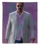 Tom Selleck Fleece Blanket