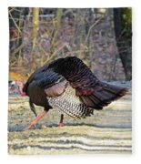 Tom Turkey Walking Fleece Blanket