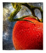 Tomato On A Vine Fleece Blanket