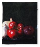 Tomatoes And Onions Fleece Blanket