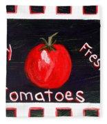 Tomatoes Market Sign Fleece Blanket