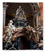 Tomb Of Pope Alexander Vii By Bernini Fleece Blanket