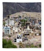 Tombs And Crosses Maimara Argentina Fleece Blanket