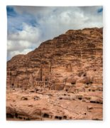 Tombs Of Petra Fleece Blanket