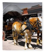 Tombstone Wagon Fleece Blanket