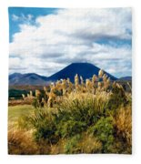 Tongariro National Park New Zealand Fleece Blanket