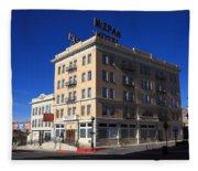 Tonopah Nevada - Mizpah Hotel Fleece Blanket