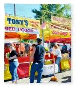 Tonys Concessions Potato Garlic Soup Bread Bowl Fleece Blanket
