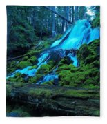 Top Part Of Clearwater Falls Fleece Blanket