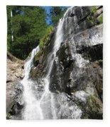 Top Part Of Silver Falls Fleece Blanket