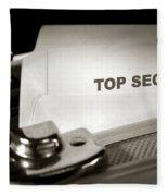 Top Secret Document In Armored Briefcase Fleece Blanket