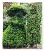 Topiary Couple Fleece Blanket