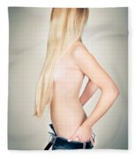 Topless Beauty Fleece Blanket