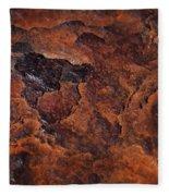 Topography Of Rust Fleece Blanket