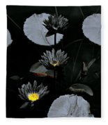 Torchlight Water Flowers Fleece Blanket