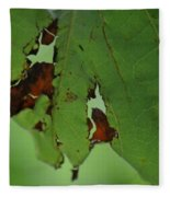 Torn Leaf Abstract Fleece Blanket