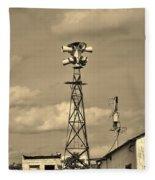 Tornado Siren In A Ghost Town Fleece Blanket