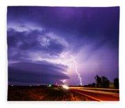 Tornado Warning In Northern Buffalo County Fleece Blanket