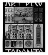 Toronto Art Deco 1 Fleece Blanket