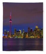 Toronto By Night... Fleece Blanket