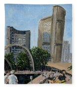 Toronto City Hall Fleece Blanket