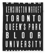 Toronto City Subway Sign Fleece Blanket
