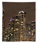 Toronto Condos On A Cold Winter Night Fleece Blanket