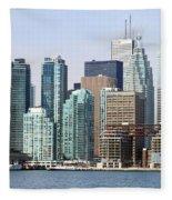 Toronto Downtown Fleece Blanket