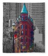 Toronto Flat Iron Building Version 2 Fleece Blanket
