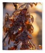 Toronto Ice Storm 2013 - Oak Leaves Jewelry Fleece Blanket