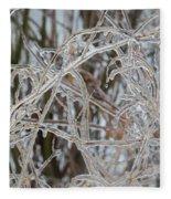 Toronto Ice Storm 2013 - Pale Frozen Grasses  Fleece Blanket