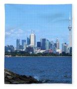 Toronto Ontario Canada Skyline Fleece Blanket