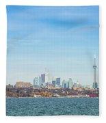 Toronto Skylines At The Waterfront Fleece Blanket