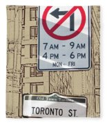 Toronto Street Sign Fleece Blanket