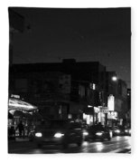 Toronto's China Town After Sunset Fleece Blanket