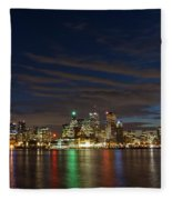 Toronto's Dazzling Skyline  Fleece Blanket