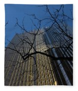 Toronto's Golden Bank - Royal Bank Plaza Downtown Fleece Blanket