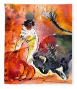 Bullfighting The Reds Fleece Blanket