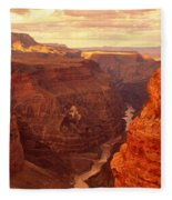 Toroweap Point, Grand Canyon, Arizona Fleece Blanket