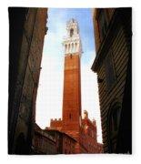 Torre Del Mangia Siena Fleece Blanket