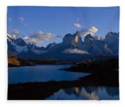 Torres Del Paine, Patagonia, Chile Fleece Blanket