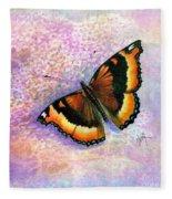 Tortoiseshell Butterfly Fleece Blanket