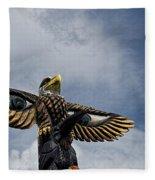 Totem Pole Fleece Blanket