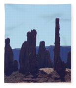 Totem Pole In Monument Valley Fleece Blanket
