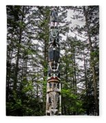 Totem Pole Of Southeast Alaska Fleece Blanket