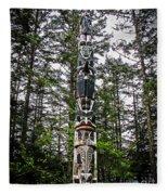 Totem Pole Of Southeast Alaska Fleece Blanket