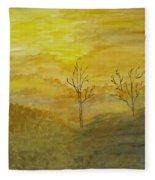 Touch Of Gold Fleece Blanket