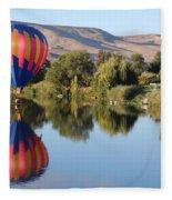 Touchdown On The Yakima River Fleece Blanket